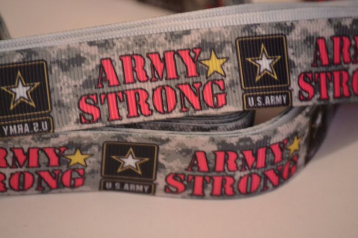 """Army Strong Ribbon, 7/8"""" wide, Hair bow Ribbon, 5 yards, Craft Ribbon, Military Ribbon by LusterClusterHairbow on Etsy"""
