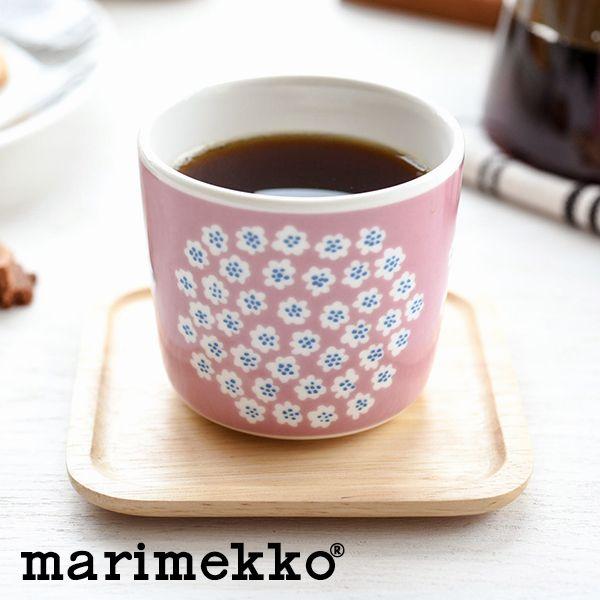 Marimekko PUKETTI sublimate latte mugs pink