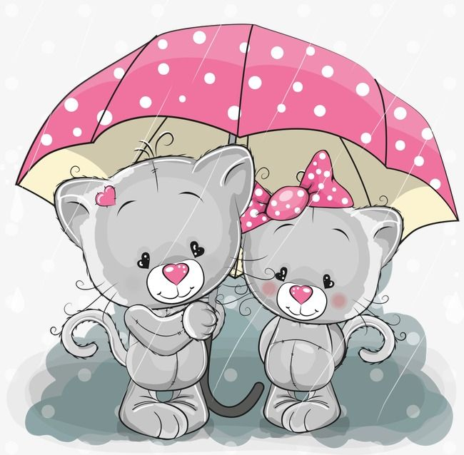Vector Kitten Under The Umbrella Vector Kitten Kitty Kitten Png Transparent Clipart Image And Psd File For Free Download Kitten Cartoon Cute Cartoon Cute Cartoon Animals