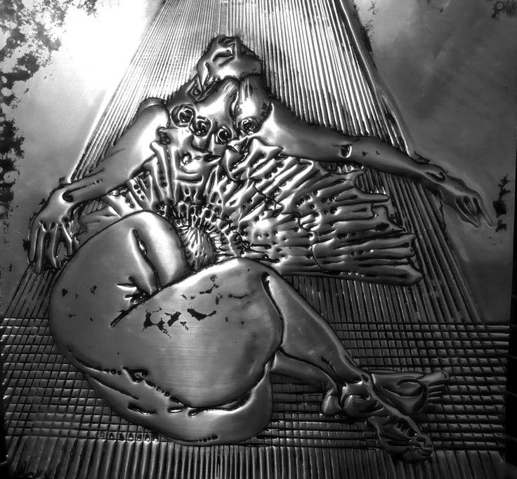 Dancer 1, metaloplastie,aluminium,50x50cm