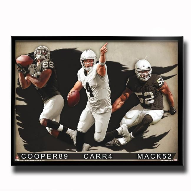 Oakland Raiders Raider Nation 24x18 Football Poster