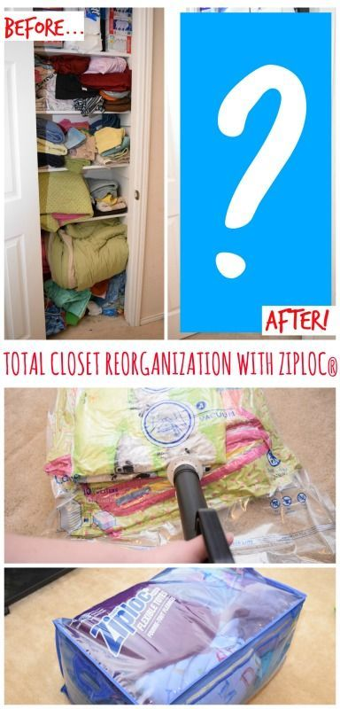 Is your closet out of control? Come see how I totally reorganized our linen closet for so much more added space with the help of Ziploc®️️ Space Bags in no time at all! #ad #OrganizeWithZiplocSpaceBags