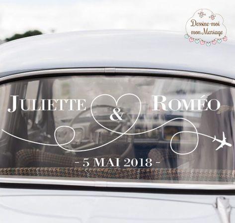 "Stickers voiture des mariés ""Voyage"" – Mariage"