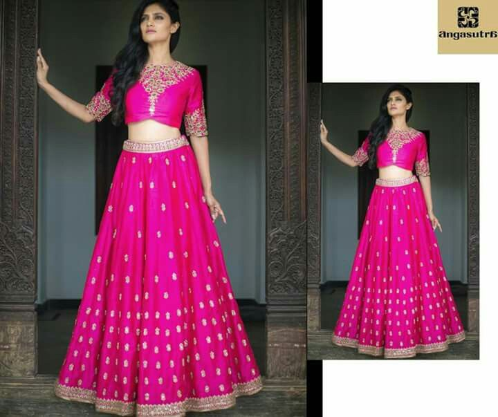 A stunning #fuschia #pink lehenga with ornate embroidery by Mrunalini Rao. Visit Angasutra for the best in festive & bridal fashion. Call 040-6530-3100 #fashionbloggers #fashion #fashionable #woman #girl #wedding #marketing #shopping #happy #boutique #Hyderabad #India #bridal #brides #bride #marriage #stylebloggers #instagram #socialmedia #picture #influencer #bff #Bollywood #ootd #Muharram #festive #Diwali