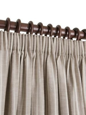 Ready Made Pencil Pleat Curtains In Laguna. 100% Cotton. Ready Made Curtains | Uk Made - Natural Curtain Company