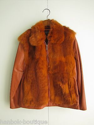LEATHER & FUR COLLECTION / WOMAN-XS LESJOURS GENUINE SHEEP LEATHER & FUR JACKET