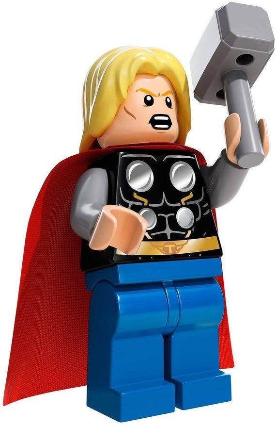 Genuine Lego Marvel Thor Minifigure From 76018 SH098