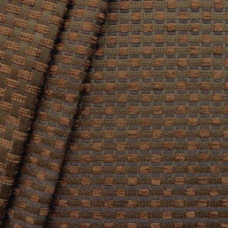 Chenille Polster- Möbelstoff Flechtoptik Artikel Fago Farbe Braun