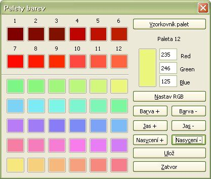 Definícia a používanie zladených paliet s farbami