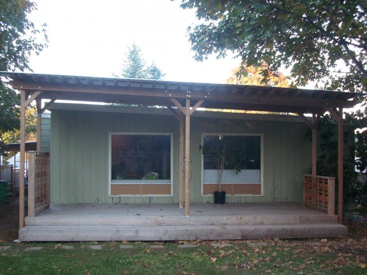 Corrugated Patio Cover Note This Is Not Attached To The