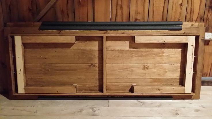 Custom Harvest Tables with folding legs 9x4 feet