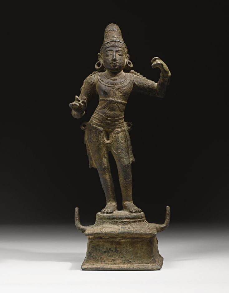 "Rama<br>Copper alloy<br>South India, Chola period | lot | Sotheby's 15-1/2"" 100,000 to 150,000"