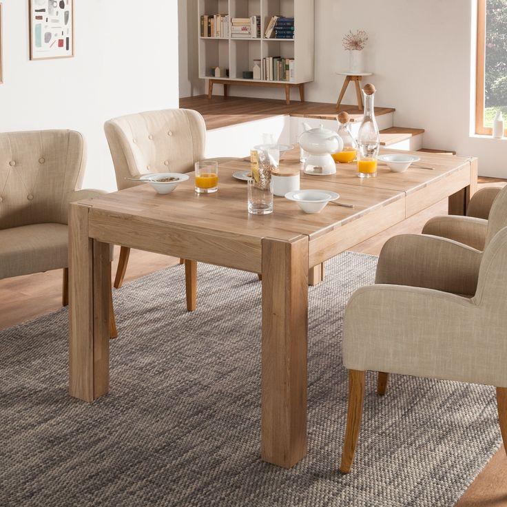 Grande Table A Manger Avec Rallonge: Table KimWOOD II - Avec Rallonge - Chêne Massif