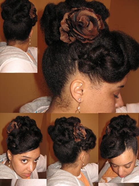 Sensational 1000 Images About Natural Hair Styles Updos On Pinterest Short Hairstyles Gunalazisus