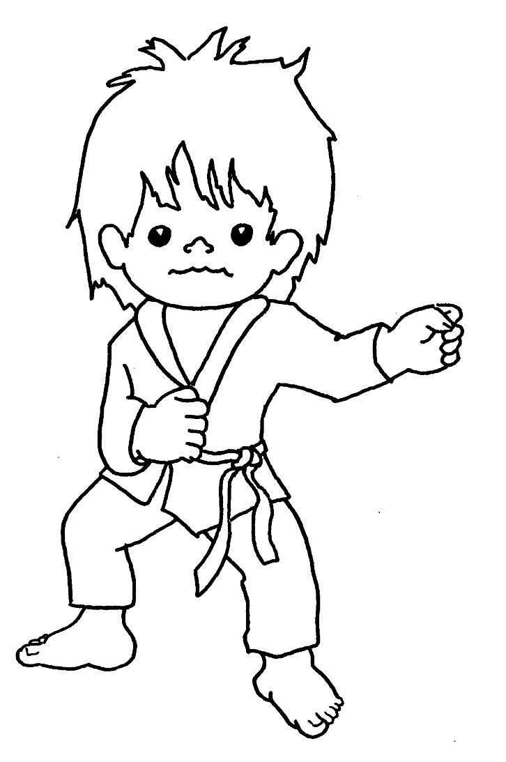 Colouring pages sports - Karate Coloring Pages For Kids