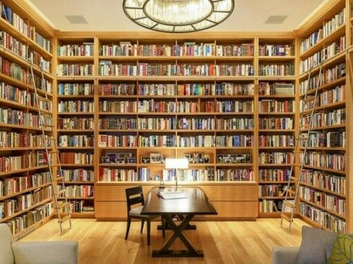 Built in book shelves home library