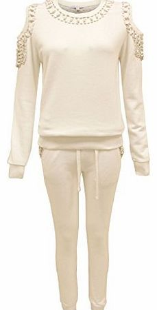 The Amber Orchid NEW LADIES CUT OUT BEADED JOGGING SUIT WOMENS SWEATSHIRT PANTS FULL TRACKSUIT <li>Brand New amp