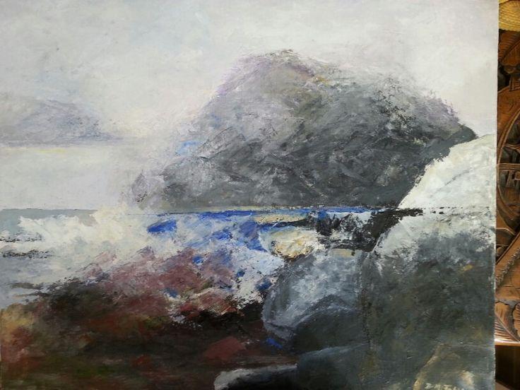 Rocks. Oil 65x54 cm. Contact : brittmarie.fabic@gmail.com