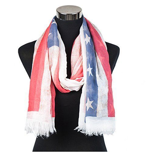 July 4th Women's clothing is hotter than ever  this year for summer 2017. Bold shades  of red, white and blue clothing is not only stylish but sexy. Women's Patriotic clothing has never been so  cute, adorable and stylish. You will love all these summer fashions! Consider getting you some American Flag  clothing and show your love, pride and passion for America this July 4th      Old Glory Oversized Scarf Patriotic American Flag Print