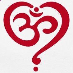 Heart Om, Spiritual, Buddha, Yoga, Goa, Symbol, Tee shirts Plus