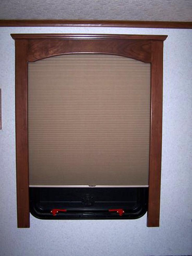 Rv Window Treatments Using Fine Finished Wood Window
