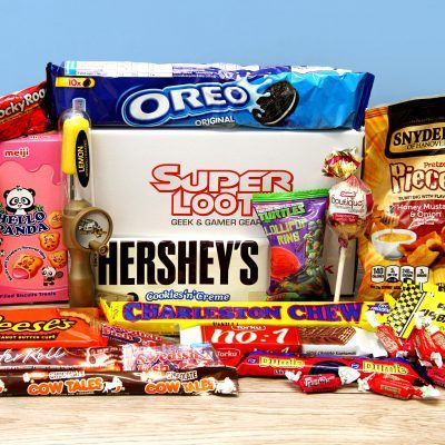 super loot do American candy or comic subscription boxes for £20 a month, use code RADAR25 for 25% off