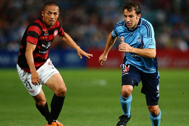 Dueling marquees - Del Piero for Sydney FC and Shinji Ono for the Wanderers