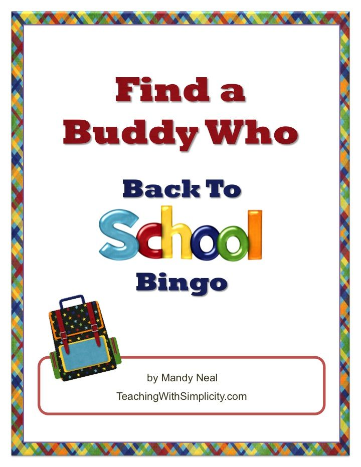 Find a Buddy Who Back to School Bingo is a classbuilding activity perfect for the first day of school.  From day one students are interacting with each other and EVERYONE is included.