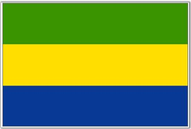 Gabon Flag - Download Picture of Blank Gabon Flag For Kids to Color