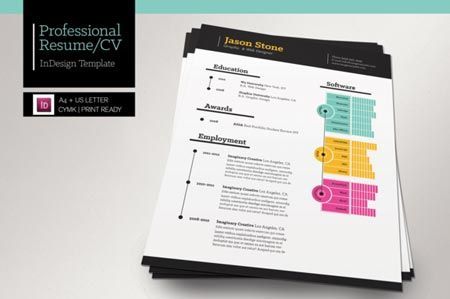 Creativemarket Professional Resume CV 9334