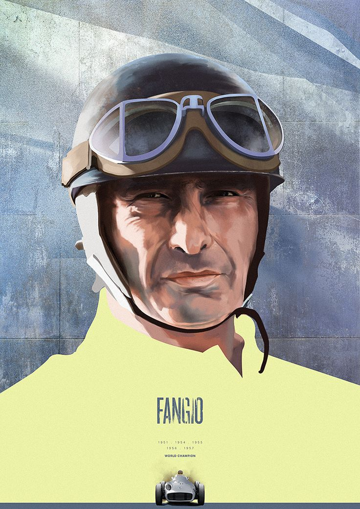 Juan Manuel Fangio. Tribute to F1 drivers from Piotr Buczkowski.