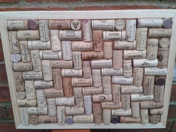 Cork Pin / notice Board hand-crafted from used by TheCorkArtCo