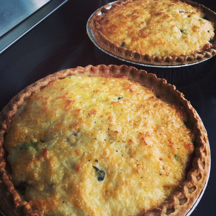 Home-grown heirloom tomato pies; used Paula Deen recipe (SP)
