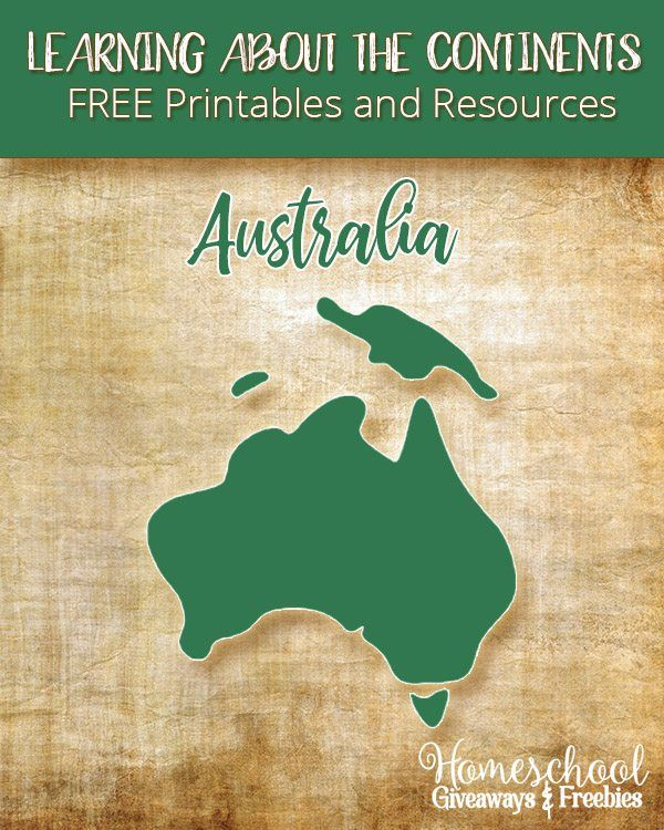Learning About the Continents FREE Printables and Resources: Australia | Homeschool Giveaways