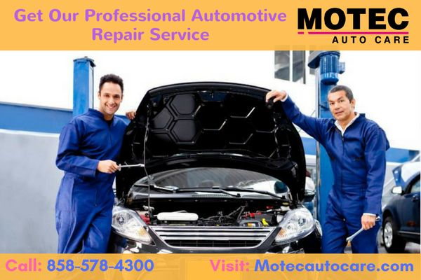 Welcome to  MOTEC Auto Care. We offer a wide variety of automotive repair services,  Engine Repair, Transmission Repair, Brake Repair and Auto Electrical Service. For more information call us: 858-251-1005 visit us: www.motecautocare.com