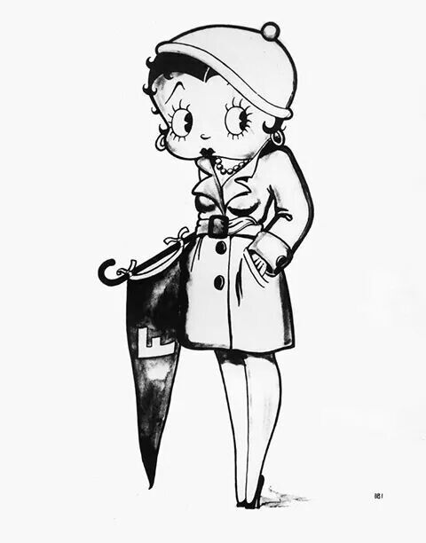 betty boop birthday coloring pages - photo#37