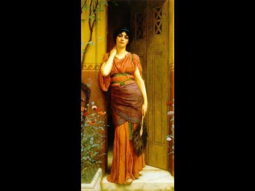 At the Garden Door - John William Godward