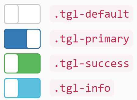 The Toggle.css library lets you create customizable switches (toggle buttons) with variable colors and sizes using Bootstrap styles.
