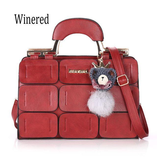 Kavard Brand Vintage Women Bag Suture Boston Bag Thread Ladies Handbag Messenger Bags Sac a Main Femme De Marque Luxe Cuir 2016