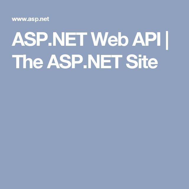 ASP.NET Web API | The ASP.NET Site
