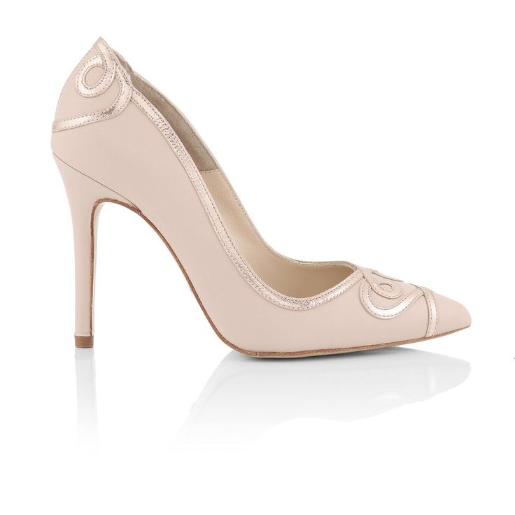 Ana Rose Is A Unique Nude Gold Point Toe Court Shoe By UK Designer Charlotte Mills Heart Detail Pointed Read More
