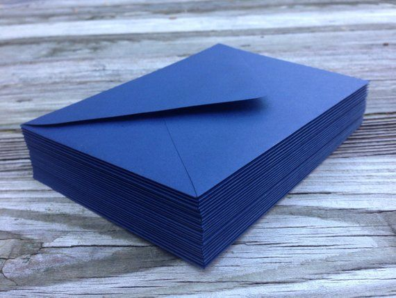 50 a7 navy blue envelopes 5x7 invitation or a1 4bar rsvp pointed