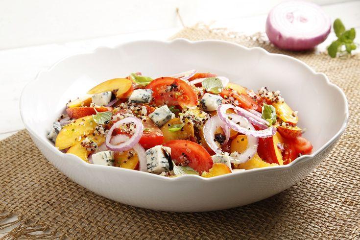 Insalata di pomodori e pesche ricetta