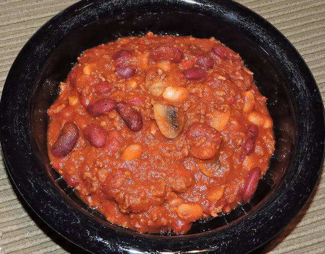 Fettsnål mexikansk chili. Hälsosam och väldigt god.