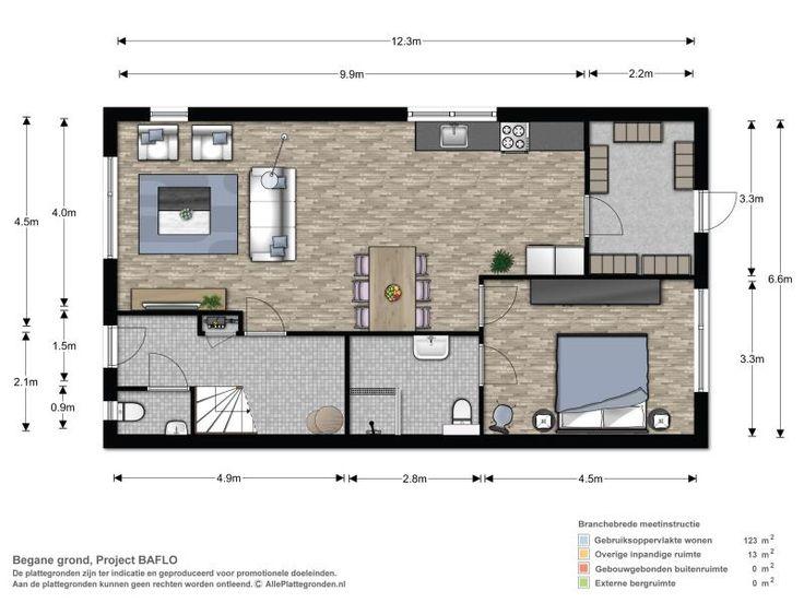 plattegrond gelijkvloerse woning - Google zoeken