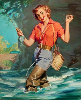 156 best pinups by bill medcalf images on pinterest for Girls gone fishing