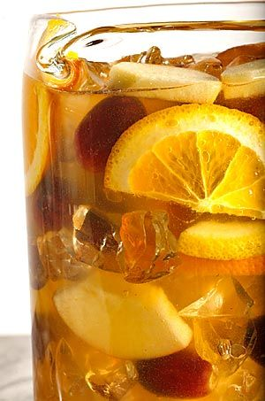 Perfect on a summer evening, the Famous White Sangria at La Grande Orange Café in Pasadena. Click here for the recipe.