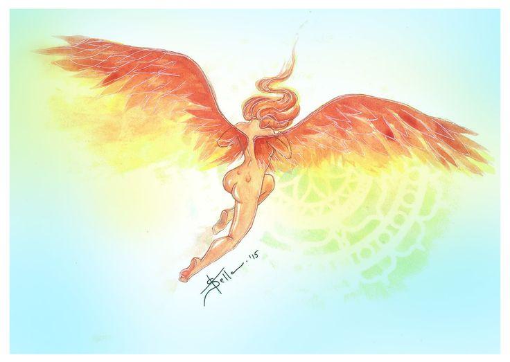 """Phoenix in human form"" by Andreea Alexandra Stela Juduc"