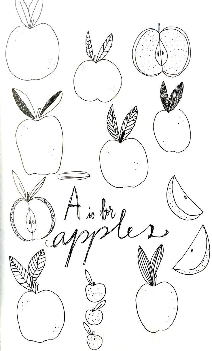 Holly Court Illustration | A is for Apples   #illustration #moleskine #sketchbook                                                                                                                                                                                 More
