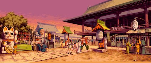 "a-steelix: ""SNK games and their Backgrounds part 11/X "" All from The Last Blade, parts 1 and 2 (or all from 2?)"